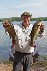 Bruce Weighs in Small mouth and Large mouth Bass
